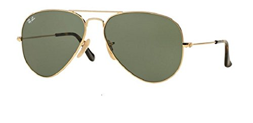 Ray Ban RB3025 181 58M Gold/Gray Green Aviator ()