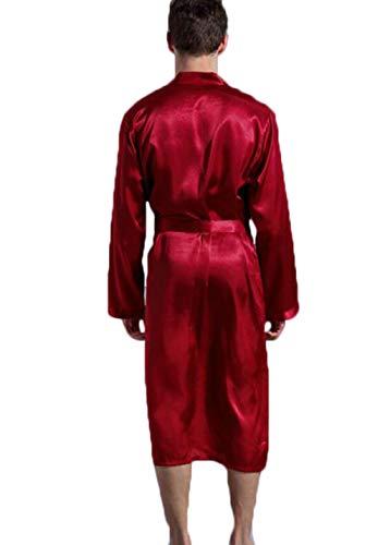 Primavera Unita L Cardigan Manica Dimensioni colore Gkkxue Da Camicia E Notte Blu Tinta Uomo Accappatoio Lunga Autunno Red Robe Allentato BqqPUw5