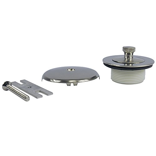 Danco Universal Lift and Turn Bath Drain Trim Kit with Overflow, Brushed Nickel, 2-Pack, ()