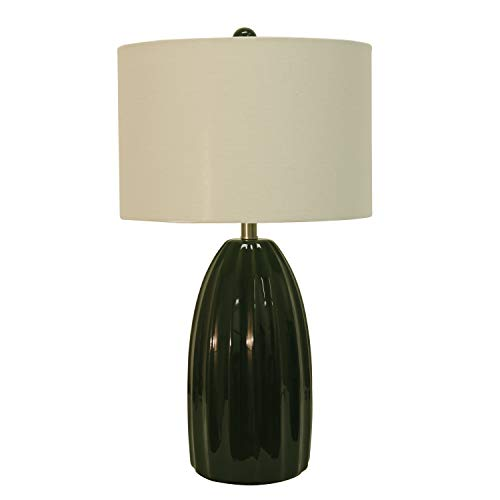 Décor Therapy TL17305 Table Lamp, Emerald Crackle