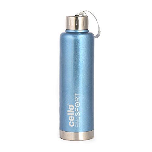 Cello Club Stainless Steel Bottle, 500ml, Blue