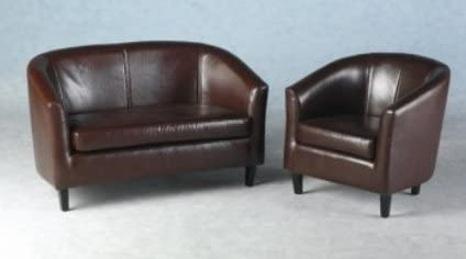LUXURY 2 SEATER SMALL TUB SOFA WITH FREE TUB CHAIR BY FURNITURE IMPORTS