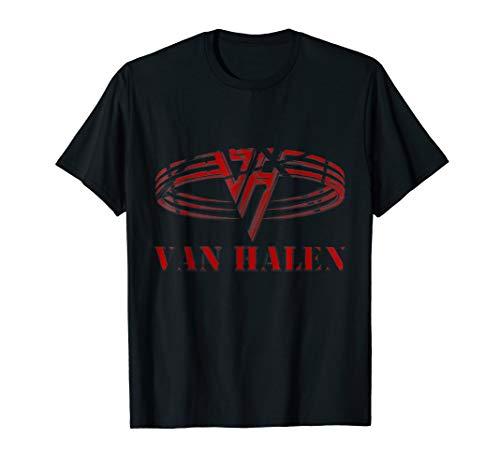 Van Halen Red Circle Logo T-shirt for Men or Women. 4 Colors, S to 3XL