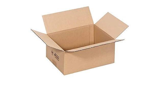 Caja de Envío / Caja de Cartón Plegable 305x220x130mm: Amazon.es: Oficina y papelería
