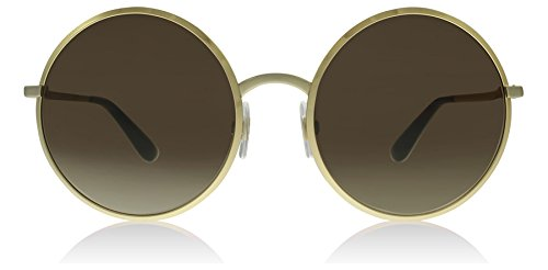 Dolce & Gabbana Women's Metal Woman Round Sunglasses, Gold, 56.1 - Dolce Sunglasses