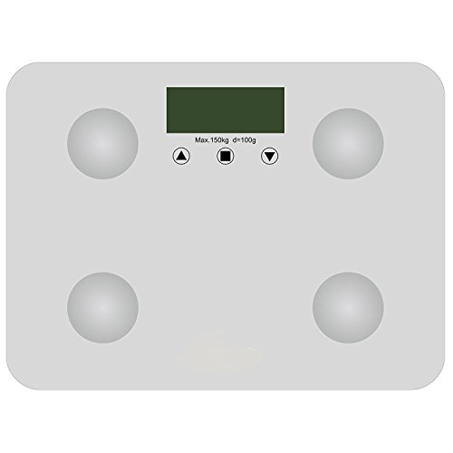 Garden Mile® Full Body Analysis Digital Bathroom Scales. High Accuracy Weight, BMI, Body Fat, Muscle, Bone Mass And Water Measurements. Slimline White With 150kg Weight Capacity And 10 Person Memory.