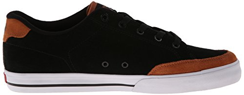 C1RCA  Lopez 50,  Unisex - Erwachsene Sneaker Black/Leather Brown