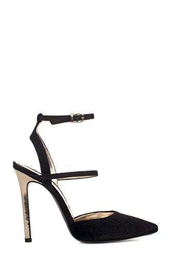 Women's MA2064BLACK Sandals ELLIS MARC Leather Black fvzqnYxn5w