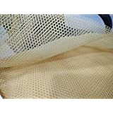 Trendz Handpicked Net Fabric (3m, Biscuit Colour) - Pack of 1