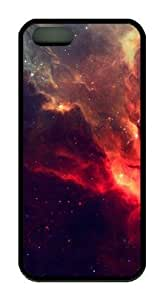 Fire Sky Iphone 5 5S Rubber Shell with Black Edges Cover Case by Lilyshouse