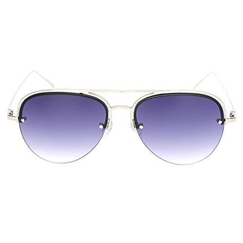 Hombre Para Metal Jiuyizhe gray Marco Frame De Lens Uv400 Gafas green Sol Silver Mujer Y Con Frame Polarizadas qx08zwHq