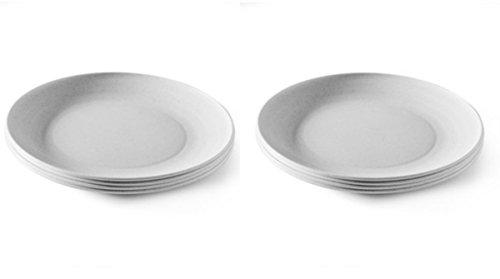 Nordic Ware Microwave Safe Plates 8 Piece Eco-Friendly Dinner Plate Set (8) - Microwave Plastic Ware