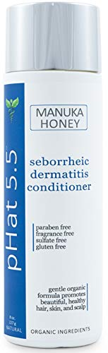 Seborrheic Dermatitis Hair Deep Conditioning Treatment with Manuka Honey, Coconut Oil and Aloe Vera - Dry & Itchy Scalp Treatment - Paraben Free and Sulfate - Gentle & Safe for Sensitive Skin (8 oz) from pHat 5.5