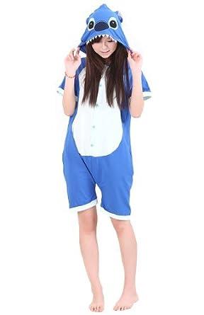 Promithi Unisex Summer Kigurumi Pajamas Anime Cosplay Costume Adult Sleepwear (M(161-169cm