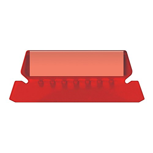 Pendaflex Hanging Folder Tabs, 2, Clear Red, 25 Tabs and Inserts per Pack (42 RED)