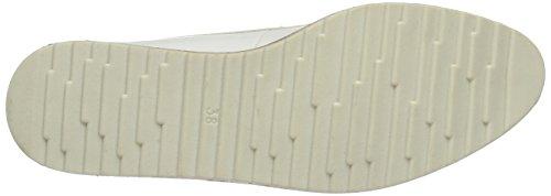 Marco Tozzi 23727, Zapatos de Cordones Oxford para Mujer Blanco (White Patent 123)