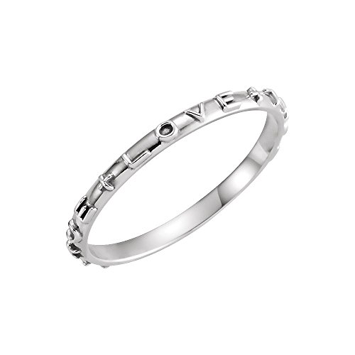 14K White Gold True Love Chastity Ring with Packaging Size 7 (True Chastity Gold Ring Love)