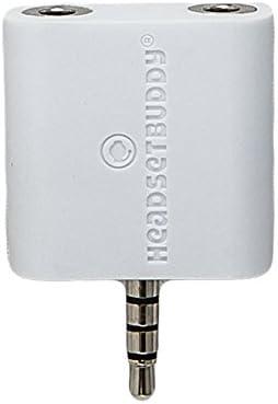 Auriculares Buddy: Caballero blanco divisor de auriculares para iPhone, Smartphone (01-hp-ph35sq): Amazon.es: Electrónica