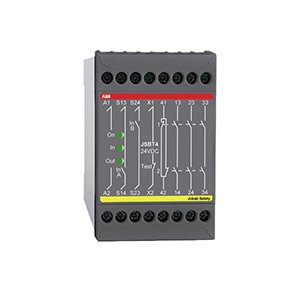 ABB 2TLA010004R0000 Safety Relay, 24 VDC, Ag with Au Flash, 3 NO - 1 NC by ABB Group