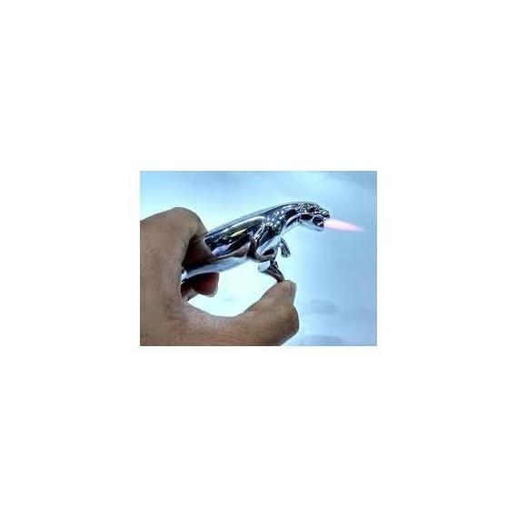 Benjoy Cigarette Lighter Metallic Steel Gas Lighters Jaguar Shape