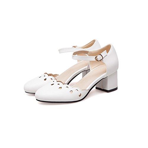 Blanc Compensées Balamasa 5 36 Femme Sandales Blanc WtqTxx108w
