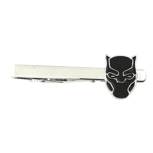 Outlander Marvel Comics - The Black Panther - Tiebar Tie Clasp Wedding Superhero Logo Novelty Jewelry Series w/Gift Box