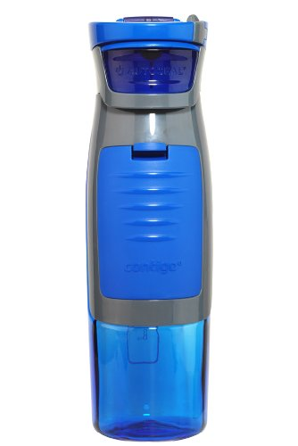 Contigo AUTOSEAL Kangaroo Water Bottle with Storage Compartment, 24 oz., Blue