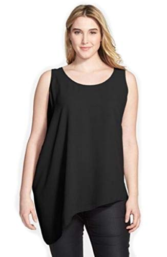 Silk Tunic Georgette - Eileen Fisher Silk Crepe Top Tunic 1X 2X 3X MSRP $258.00 (2X) Black