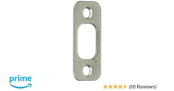 H x 1-5//8 in L Brass Plated  Steel  Latch Strike Plate Prime-Line  2.25 in
