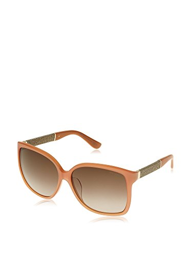 Jimmy Choo CARLY/F/S (V9C/HA) Light Brown Square Sunglasses Green Gradient - Carly Sunglasses