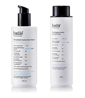 belif-Set-for-oily-skin-type-Eucalyptus-Herbal-Extract-Toner-200ml-Oil-Control-Moisturizer-Fresh-125ml-oil-free-Sebum-control-pore-convergence-001KR