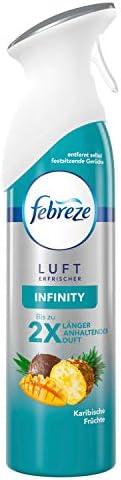 Febreze Lufterfrischer-Spray Infinity Karibische Früchte,  1er Pack (1 x 300 ml)