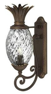 Hinkley 2220CB Plantation Cast Outdoor Lantern Fixture, Copper Bronze - Clear Optic -