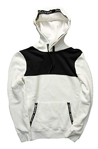 Hollister Men's Hoodie Sweatshirt Pullover (White Pullover 1809, S) from Hollister