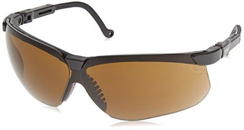 Uvex S3201X Genesis Safety Eyewear, Black Frame, Espresso UV Extreme Anti-Fog Lens ()