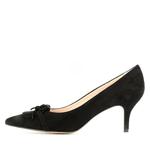 Evita Giulia Shoes vestir de Piel para de mujer negro Zapatos PrP4qw5