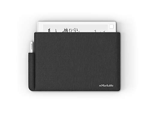 reMarkable Folio: Charcoal Grey - Polymer Weave - The Official Sleeve for The reMarkable Paper Tablet