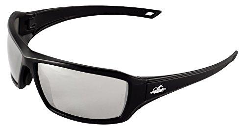 Bullhead Safety Eyewear BH1567AF Walleye Safety Glass, One Size, Matte Black Frame/Temple, Silver Anti Fog Lens, Black TPR Nose, TPR Temple Icon  (144 Per - Icon Lense