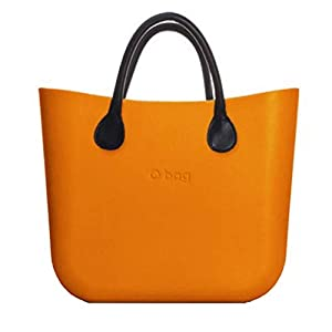 OBAG Borsa o bag mini arancione mattone sacca interna manico corto nero 1