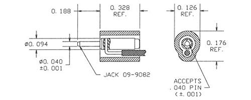 JACK FOR PATCH CORD ASSEMBLIES, ( Pack of 10 ) - 09-9083-1-0310 by CONCORD ELECTRONICS