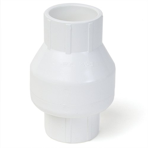 - King Brothers Inc. KSC-2000-S 2-Inch Slip PVC Schedule 40 Swing Check Valve, White