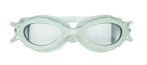 TYR Nest Pro Mirrored Goggle, Metallic White