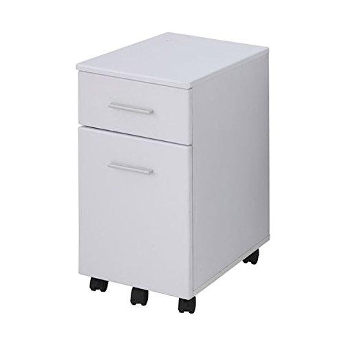 あずま工芸 サイドチェスト 幅33.5×高さ60cm ホワイト EDS-1601 B075B5JQTT