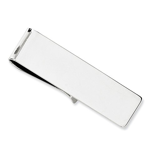 14k White Gold Money clip by CoutureJewelers
