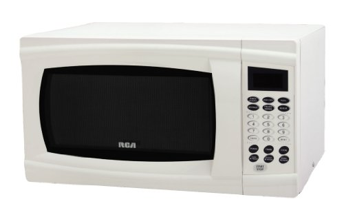 Price comparison product image RCA RMW1112 1.1 Cubic Feet Microwave Oven,  White