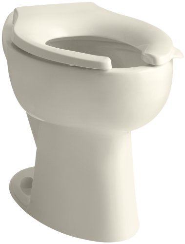 Kohler K-4301-47 Highcrest Elongated Toilet Bowl with Rear Spud, Less Seat, Almond - Highcrest Toilet Bowl