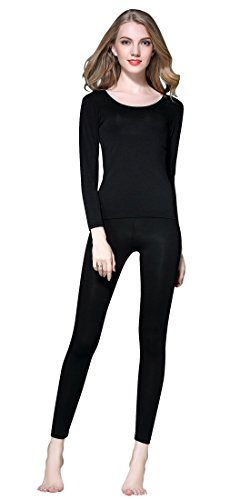 Vinconie Women Thermal Athletic Running Cycling Tights Sccop Neck Top Ultra Thin (Thermal Sexy)