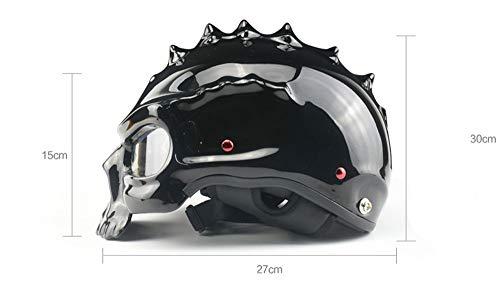 Amazon.es: Cascos moto Casco, medio casco de seguridad, calavera de Halloween es una buena opción o regalo (Color : Blanco)