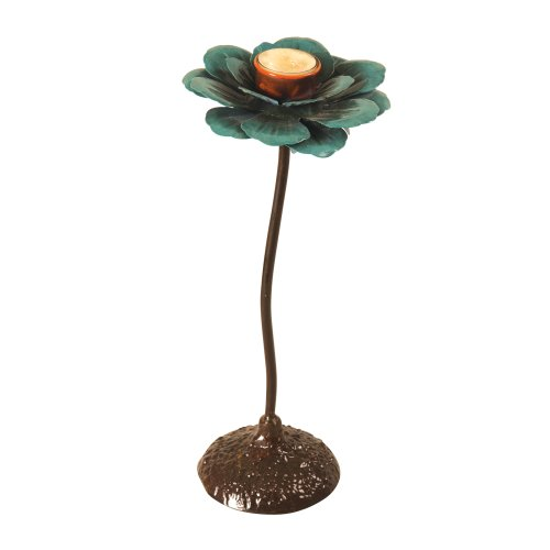 Wilco Imports 6-Inch by 13-1/4-Inch Metal Flower Votive H...