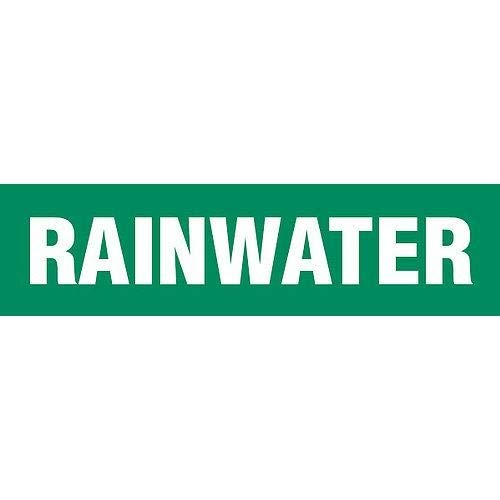 GHS Safety PM1252RB, Pipe Marker''Rainwater'' Plastic Sheet, Pack of 50 pcs